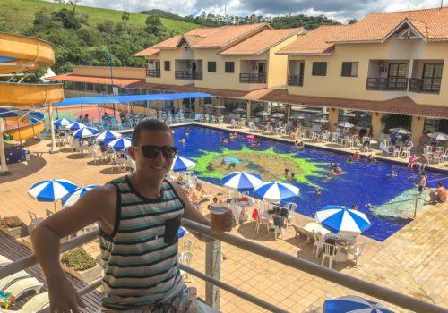 Vista da suíte para piscina sol II